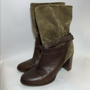 Vince. Size 9.5 Boots Leather Suede Gwen